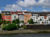 Houses on the Elbe river