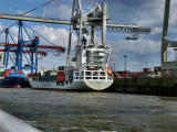 Containership unloadet